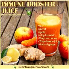 This is a potent immune booster juice to drink when you feel you are coming down. - Abby Perrin This is a potent immune booster juice to drink when you feel you are coming down. Healthy Juice Recipes, Juicer Recipes, Healthy Juices, Healthy Smoothies, Healthy Drinks, Cleanse Recipes, Good Juicing Recipes, Simple Smoothies, Vegetable Smoothies