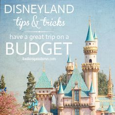 tips for saving money at Disneyland without sacrificing the fun. Ideas for cheap places to stay and eat - Disney on a budget.