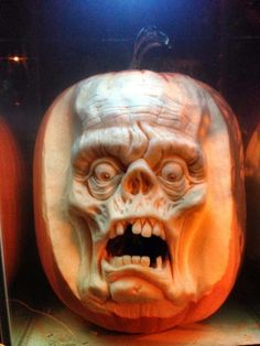 Ray Villafane and his team of professional sculptors from Bellaire, Mich. meticulously carve these terrifying characters every Halloween. Each pumpkin takes.