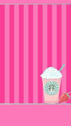 I dont drink starbucks but i thought this was cute. Phone Screen Wallpaper, Iphone 6 Wallpaper, Cute Wallpaper For Phone, Cute Wallpaper Backgrounds, Computer Wallpaper, Pink Wallpaper, Pretty Wallpapers, Cool Wallpaper, Pattern Wallpaper