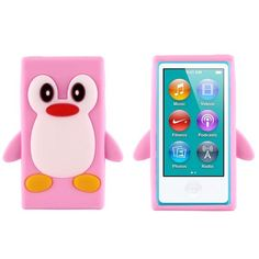 Happy Penguin (Lyse Rosa) iPod Nano 7 Deksler Ipad Nano, Happy Penguin, Penguins, Ipod, Sony, Hot Pink, Samsung, Orange, Cover