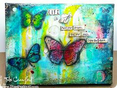 Life Is Art - Tobi's Butterfly Canvas