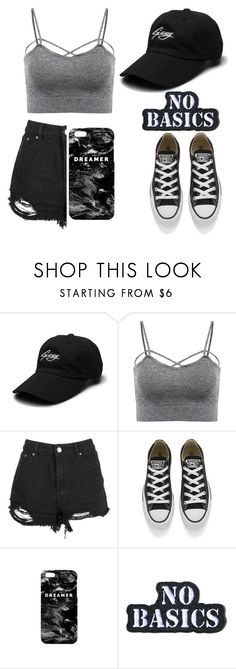 """""""Cappy"""" by sad11 ❤ liked on Polyvore featuring Converse, Mr. Gugu & Miss Go, Hollywood Mirror, grey, cap and hispter"""