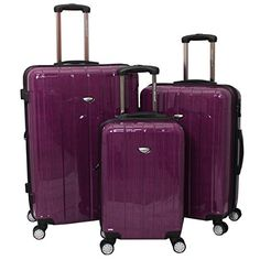 Jada 3 Piece Luggage Set Color Fuchsia *** For more information, visit image link.