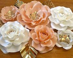 KraftyChicStudiollc on Etsy Paper Flower Decor, Flower Decorations, Paper Flowers, Etsy Seller, Nursery, Create, Rose, Unique, Floral Decorations