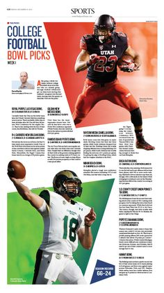 College Football Bowl Picks |Epoch Times #newspaper #editorialdesign #graphicdesign