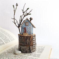 'Весенний домик' Композиция из дерева, дрифтвуд-арт – купить в интернет-магазине на Ярмарке Мастеров с доставкой - F94W3RU