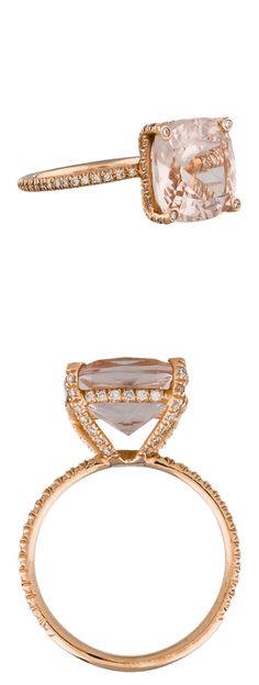 Morganite rose gold morganite wedding ring // Women in Weddings Weigh in on Engagement Rings