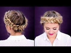 HOW TO HALO/CROWN DUTCH BRAID SHORT HAIR TUTORIAL - YouTube