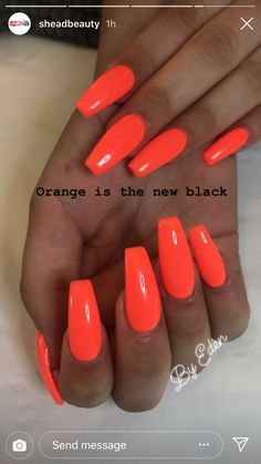 fσllσw mє: ριитєяєѕт: baddiesplayground Ÿ . fσllσw mє: ριитєяєѕт: baddiesplayground Ÿ . Bright Orange Nails, Bright Acrylic Nails, Bright Summer Nails, Almond Acrylic Nails, Neon Nails, Holiday Acrylic Nails, Summer Colors, Summer Holiday Nails, Bright Nail Art