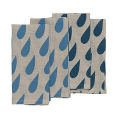 hardtofind. | Raindrops napkins (set of 4)