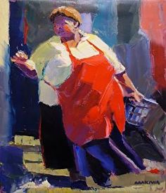 Daily Art Show (02/13/2013) - The Red Apron by makiwa mutomba | FASO http://dailyartshow.faso.com/20130213/1094420