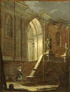 Luca Carlevariis, Italian Oil on Canvas, Woman in Despair at Stairs. Palm Beach Florida, Melancholy, Art Auction, Sadness, Jewelry Art, Oil On Canvas, Art Decor, Stairs, Paintings