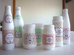 Récup pots en verre - Customiser ses pots en verre... Superbe idée!