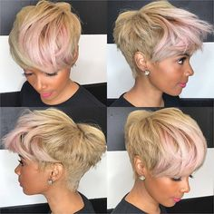 style via Kisha Jefferson Read the article here – blackhairinformat… - Black Haircut Styles Short Sassy Hair, Short Hair Cuts, Pixie Cuts, Short Pixie, Asymmetrical Pixie, Dope Hairstyles, Pixie Hairstyles, Hairstyle Ideas, Pixie Haircuts
