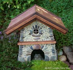 Bungalow Toad house with copper roof by willodel on Etsy, $148.00