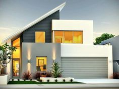 Contemporary Home Design Images Minimalist House Design, Modern House Design, Modern Minimalist, Contemporary Design, House Roof, Facade House, Modern Exterior, Exterior Design, Home Design Images