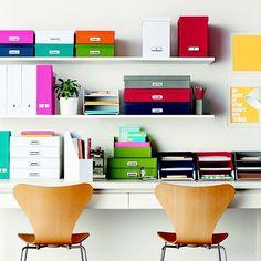 Organizing in color. FUN!