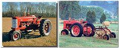 1955 Red Vintage Farmall Farming Tractor Two Set Wall Dec...…