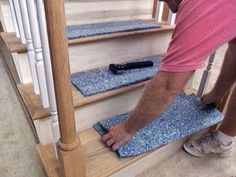 The experts at the HGTV show how to install a carpet runner with finished edges on stairs. It is a project well within the reach of a DIYer with moderate skills.