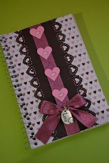 "Libreta decorada ""LOVE"" Altered notebook. Notebook. Cuaderno decorado. Libro alterado. Book."