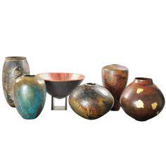 1stdibs.com | Gerard Beaucousin - Exceptional set of 6 copper vases