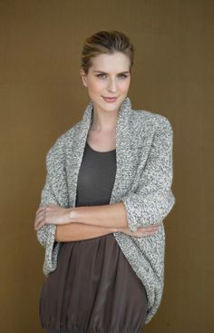 This Speckled Shrug made with Fishermen's Wool works up quickly for a fast-finish project.