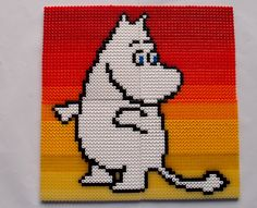 Moomin hama perler beads by Nina V. Fuse Bead Patterns, Beading Patterns, Embroidery Patterns, Cross Stitch Patterns, Fuse Beads, Perler Beads, Little My Moomin, Hama Beads Design, Iron Beads