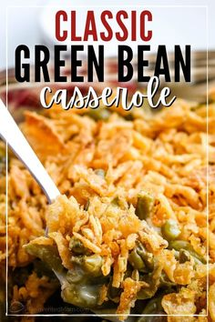 This easy green bean casserole recipe is a classic side dish perfect for Thanksgiving, other holidays Easy Weeknight Dinners, Quick Meals, Classic Green Bean Casserole, Frozen Green Beans, Greenbean Casserole Recipe, French Fried Onions, Mushroom Soup, Creamed Mushrooms, Budget Meals