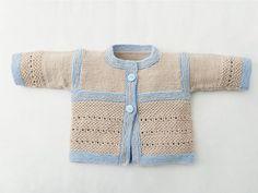 Set aus zweifarbiger Babyjacke und Babyschuhen stricken