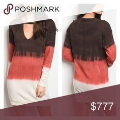 """🔜12/8! Brown Rust Cream Choker Neck Sweater Dress Arrives 12/8! """"Like"""" to be notified upon arrival. Boho brown rust cream tie dye ombré choker neck long sleeve sweater dress featuring a v-cutout at the neckline. 60% cotton, 30% polyester. Made in U.S.A. 🇺🇸 The Luxe Bohemian Dresses"""