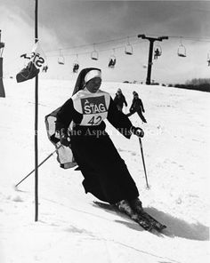 Nun ski racing. Aspen Historical Society.
