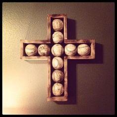 Beautiful baseball cross! Love it! Great for a little boys room. by nichole