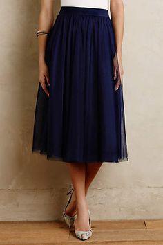 Love love love - soft and feminine but not too girly.  Tulle Midi Skirt - anthropologie.com