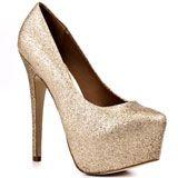 Steve Madden's Gold Dejavu - Gold Glitter for 129.99 direct from heels.com