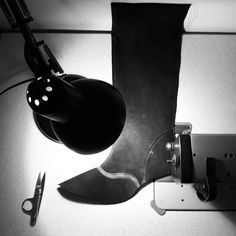 Sewing the lining of the boots. Learning the #crafts of #Artisan #Shoemaking. #Handmade #Footwear #Design.