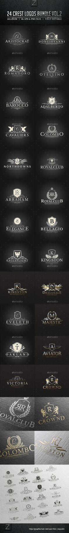 24 Crest Logos Bundle
