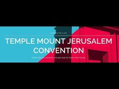 Cry For Zion-Temple Mount Conference Speech Temple Mount Jerusalem, Current Events, Conference, Crying, Knowledge, Fire, Education, Consciousness, Educational Illustrations