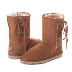 Chestnut Short Lace Up UGG Boots #chestnut #short #laces #short #ugg