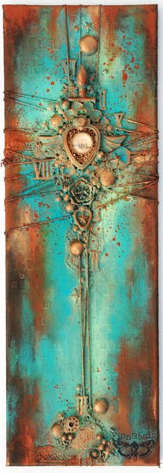 Soulful Journey (in Patina and Rust) - Collage