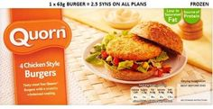 Slimming world quorn syns per burger Slimming World Ready Meals, Slimming World Vegetarian Recipes, Slimming World Recipes, Vegetarian Meals, Quorn Recipes, Meat Recipes, Gourmet Recipes, Healthy Recipes, Quorn Meals