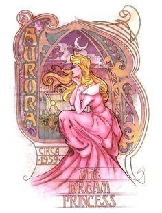 Art Nouveau meets Disney, beautiful pieces!