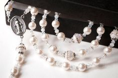 Simply Heavenly Catholic Rosary Christening by TheBlessedBead