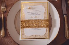 gold inspired wedding