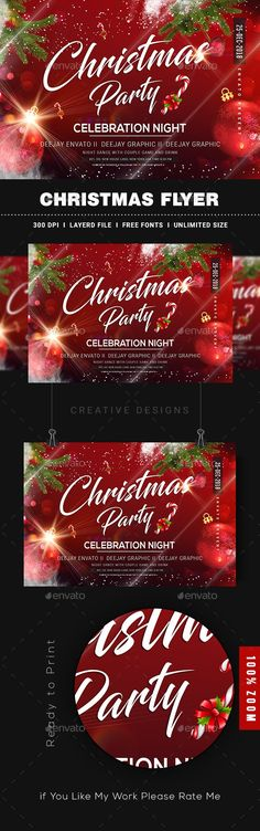 Buy Merry Christmas Flyer by Nirmaldesign on GraphicRiver. Christmas Flyer, Christmas Design, Merry Christmas, Holidays And Events, Creative Design, Party, Free, Videos, Christmas Drawing