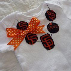San Francisco Giants Baseball MLB  Necklace Onesie by ThisPretty, $22.95