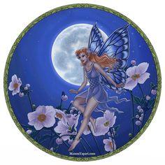 A Fairy Against the Moon by Manon Yapari