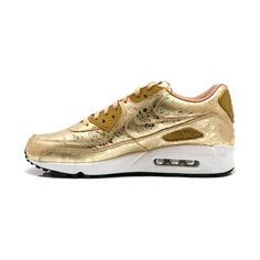 Nike Air Max 90 'Gold Splatter' found on Polyvore