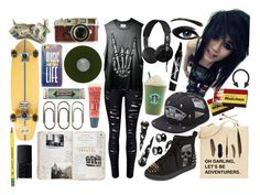 """""""Never Lose Your Flames"""" by theblackparade48 ❤ liked on Polyvore featuring Element, NARS Cosmetics, Jack Wills, Leica, Clips, Miss Bibi, Penny Sue, Vans, Casetify and Skullcandy"""