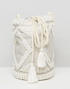 South Beach Drawstring Shoulder Bag In Natural